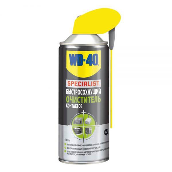 Быстросохнущий очиститель контактов WD-40 SPECIALIST (400 мл)