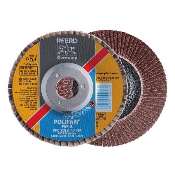 Круги лепестковые торцевые PFERD PSF PFC 125 мм