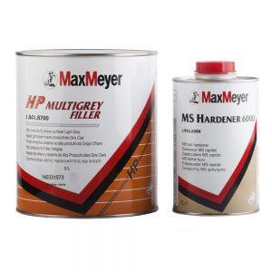 Порозаполнитель MaxMeyer HP Multigrey Filler 8700 (3 л) + отвердитель 6000 (1 л)
