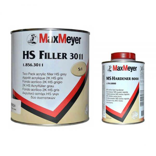 Грунт-наполнитель MaxMeyer HS FILLER 3011 (2,5 л) + отвердитель MS HARDENER 8000 (0,5 л)