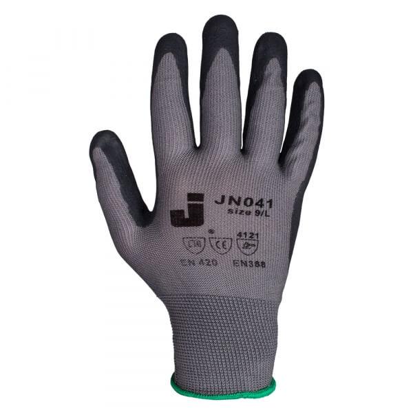 Защитные перчатки JETA SAFETY JN041, размер L серо-черные