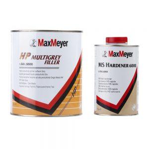 Порозаполнитель MaxMeyer HP MULTIGREY FILLER 8800 (3 л) + отвердитель MS HARDENER 6000 (1 л)