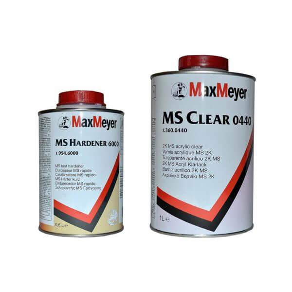 Комплект лака MaxMeyer MS Clear 0440 (1 л) + MS Hardener 6000 (0,5 л)