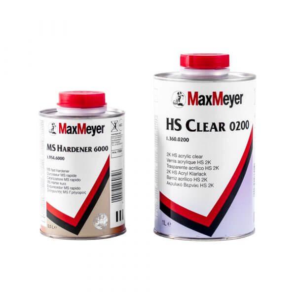 Комплект лака MaxMeyer HS Clear 0200 (1 л) + MS Hardener 6000 (0,5 л)