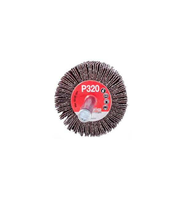 Круг лепестковый с оправкой Bibielle RG0282 40 x 30 x 6 мм, P320