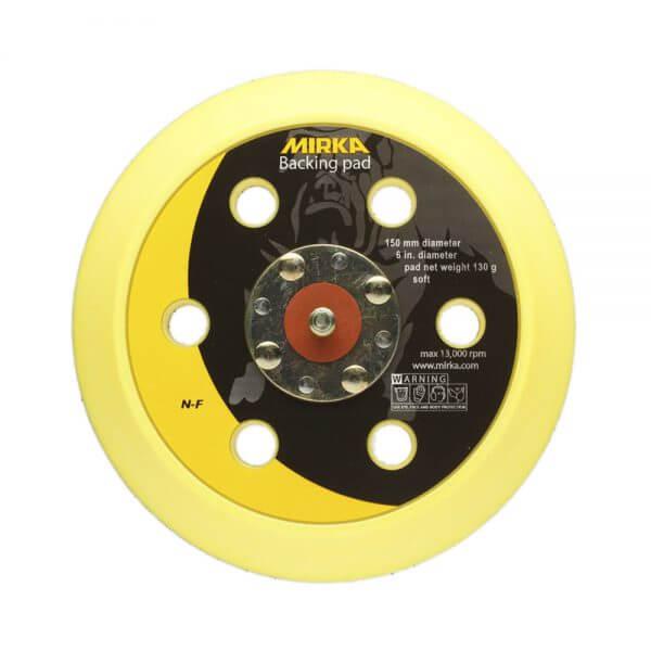 Мягкая диск-подошва MIRKA 150 мм, 6 отверстий