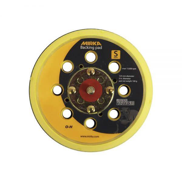 Мягкая диск-подошва MIRKA 125 мм, 28 отверстий