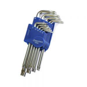 Набор ключей TORX BOVIDIX, 85-160 мм, 9 штук