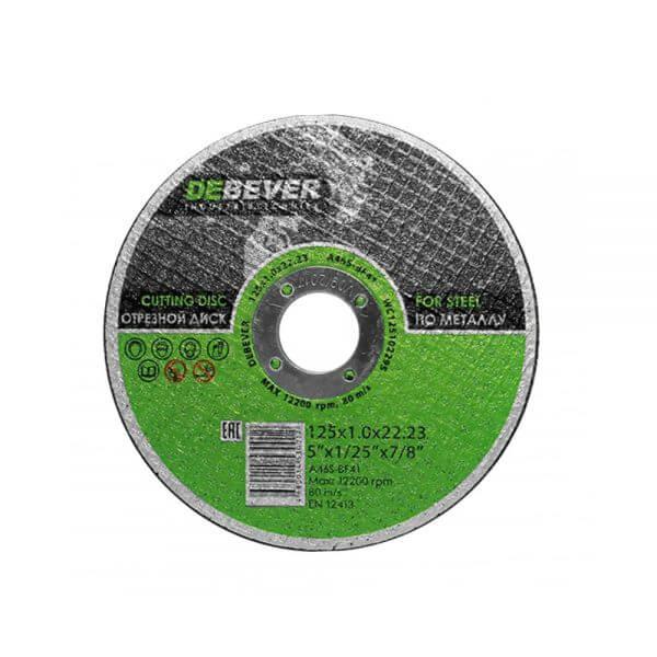 Отрезные диски по металлу DEBEVER 125 мм