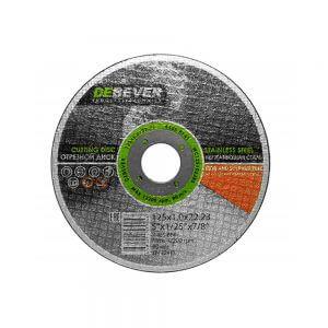 Отрезные диски по нержавеющей стали DEBEVER 125 мм