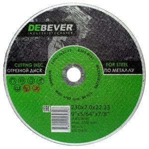 Отрезные диски по металлу DEBEVER 230 мм