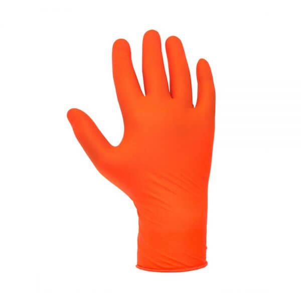Перчатки нитриловые оранжевые JETA SAFETY JSN5