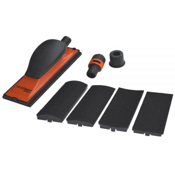 Ручной шлифовальный блок с насадками WDK-1407 70 x 198 мм, 22 отв.