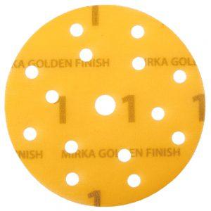 Шлифовальные круги MIRKA GOLDEN FINISH №1 150 мм, 15 отв.