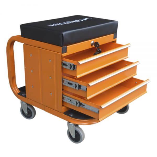Табурет механика с ящиками WDK-65862 (3 ящика)