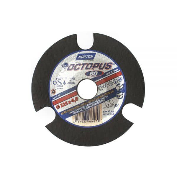 Зачистные круги по металлу NORTON OCTOPUS 125 x 4 x 22,23 мм