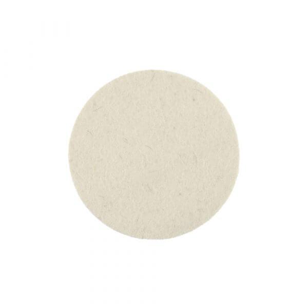 Жесткий фетровый полировальный диск MIRKA 77 мм (белый)