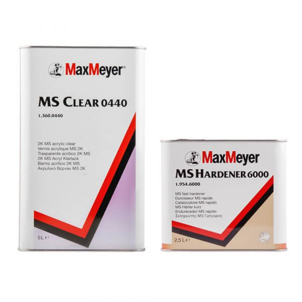 Комплект лака MaxMeyer MS Clear 0440 (5 л) + MS Hardener 6000 (2,5 л)