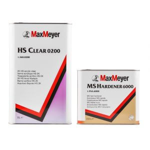 Комплект лака MaxMeyer HS Clear 0200 (5 л) + MS Hardener 6000 (2,5 л)