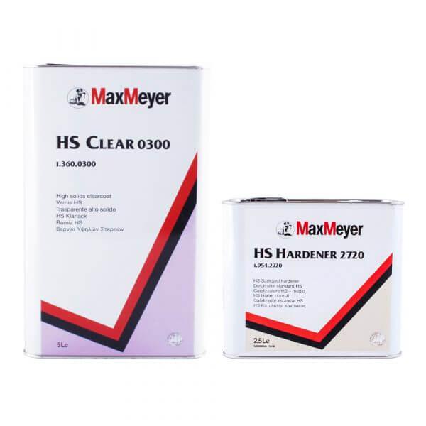 Комплект лака MaxMeyer HS Clear 0300 (5 л) + HS Hardener 2720 (2,5 л)