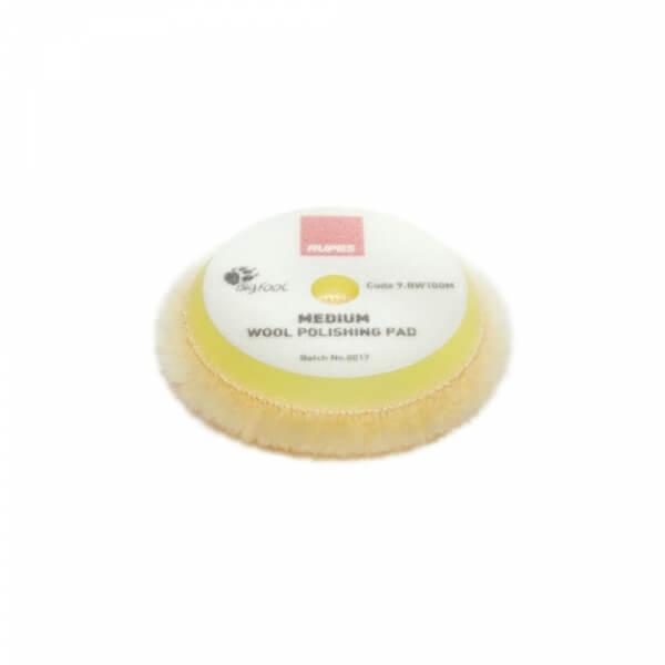 Мягкий полировальный диск из натуральной овчины RUPES 90 мм желтый