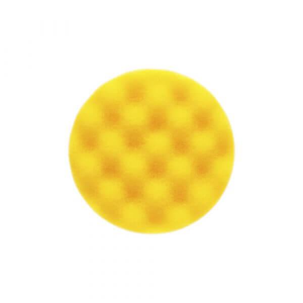 Рельефный поролоновый полировальный диск MIRKA 85 мм желтый