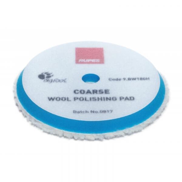 Жесткий полировальный диск из натуральной овчины RUPES 170 мм голубой