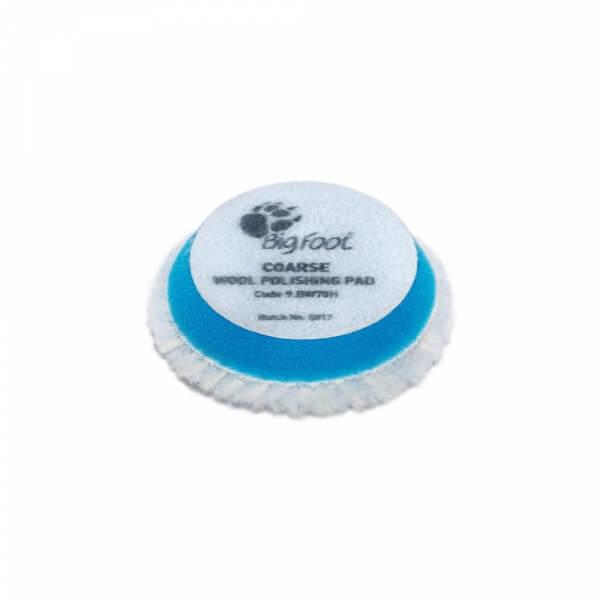 Жесткий полировальный диск из овчины RUPES 65 мм голубого цвета