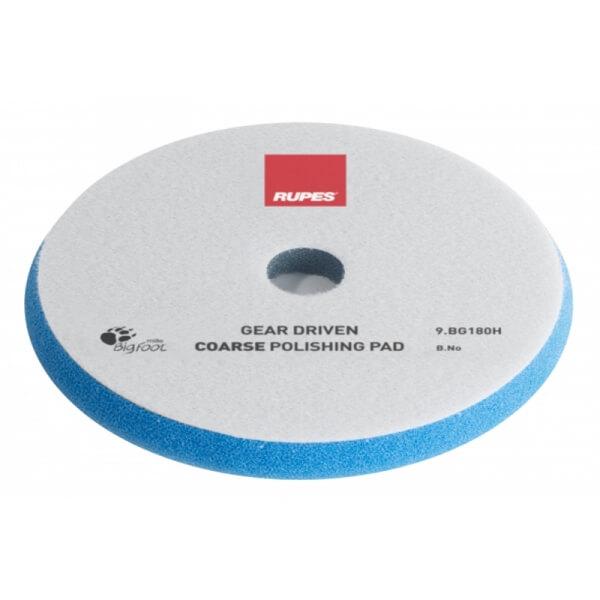 Жёсткий поролоновый полировальный диск RUPES MILLE 180 мм синего цвета