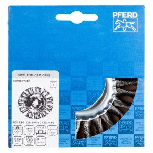 Щетка дисковая плетеная PFERD RBG ST COMBITWIST 125 x 12 мм