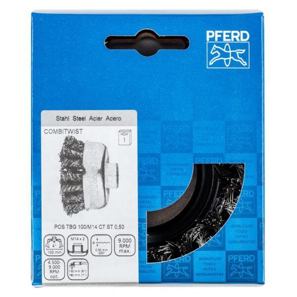 Щетка чашечная плетеная PFERD TBG ST COMBITWIST 100 мм