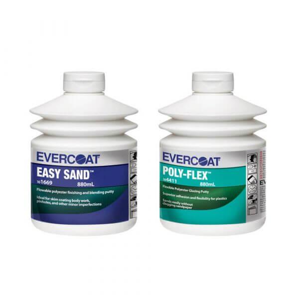Финишная шпатлевка Evercoat Easy Sand (0,88 л) + шпатлевка по пластику Poly-Flex (0,88 л)