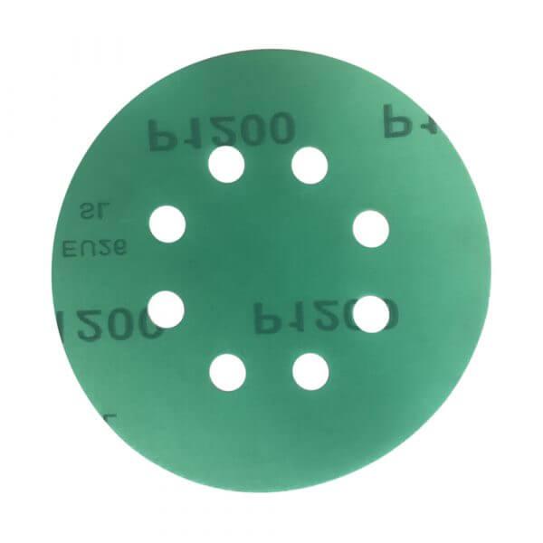 Шлифовальные круги HANKO DC341 GREEN FILM 125 мм, 8 отв.