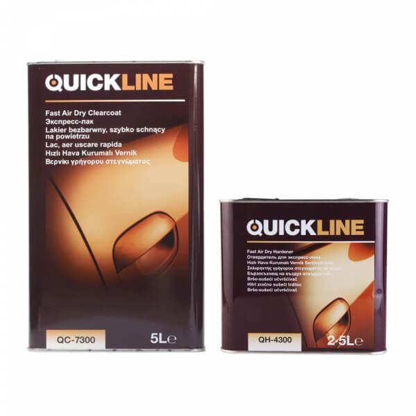 Комплект экспресс-лака Quickline QC-7300 (5 л) + отвердитель QH-4300 (2,5 л)