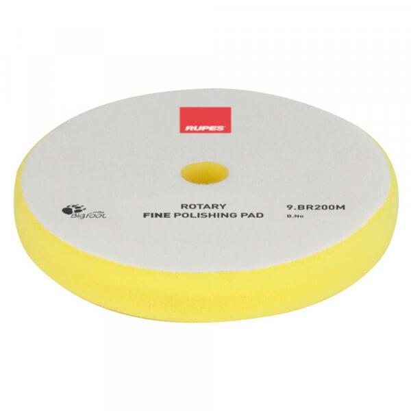 Мягкий поролоновый полировальный диск RUPES ROTARY FINE 200 мм желтый