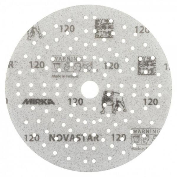 Шлифовальные круги MIRKA NOVASTAR 150 мм, 121 отверстий