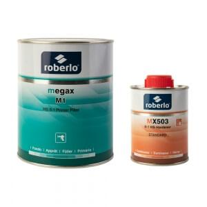 Грунты-наполнители Roberlo MEGAX (1 л) + отвердитель MX503 (0,2 л)
