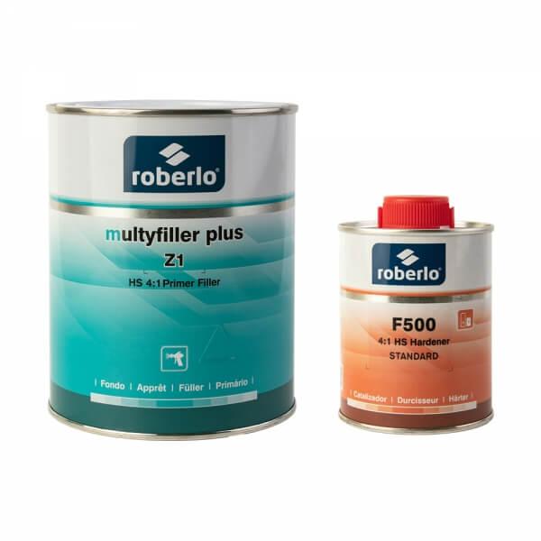 Грунт-наполнитель Roberlo MULTYFILLER PLUS (1 л) + отвердитель F500 (0,25 л)