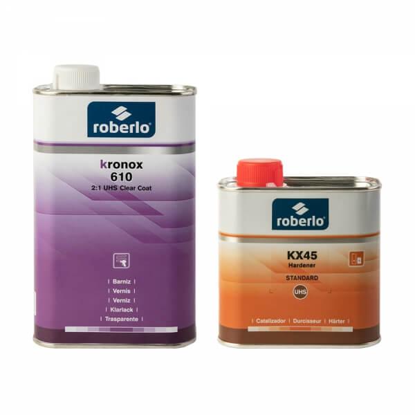 Комплект лака Roberlo KRONOX 610 (1 л) + отвердитель KX45 (0,5 л)
