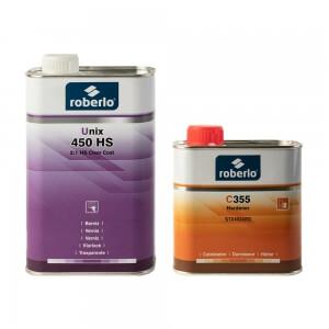 Комплект лака Roberlo UNIX 450 HS (1 л) + отвердитель C355 (0,5л)