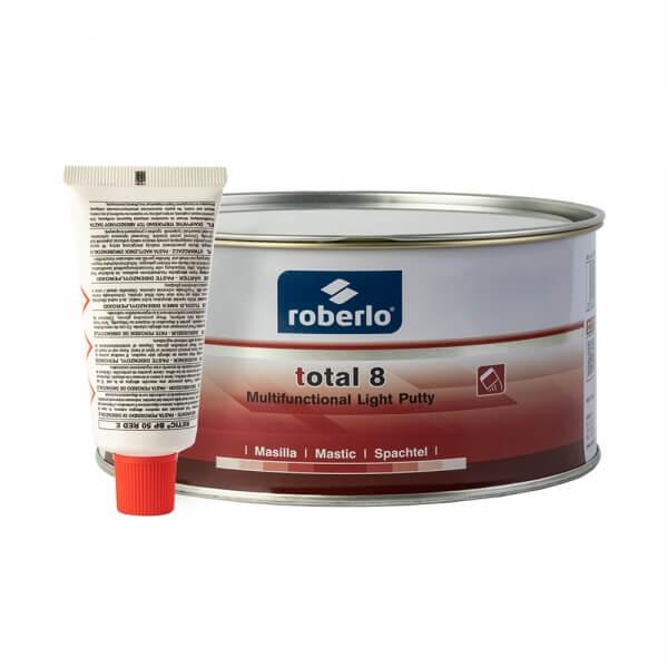 Шпатлевка легкая универсальная Roberlo TOTAL 8 (1 л) + отвердитель