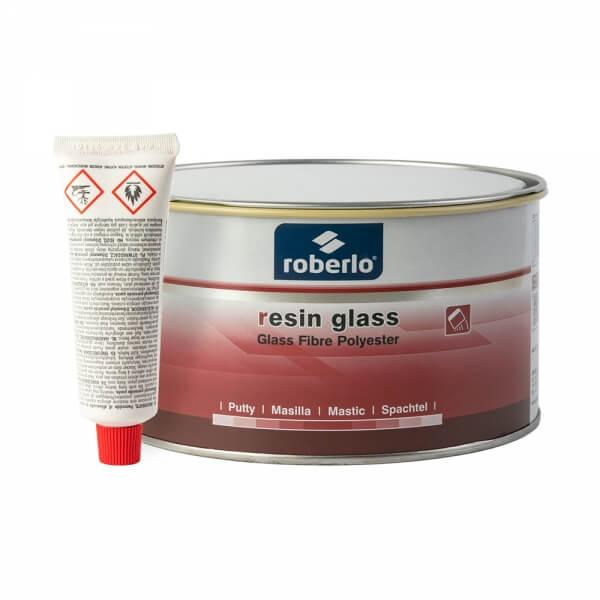 Шпатлевка со стекловолокном Roberlo RESIN GLASS (1,5 кг) + отвердитель