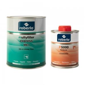 Грунты-наполнители Roberlo MULTYFILLER EXPRESS (1 л) + отвердитель P5000 (0,5 л)
