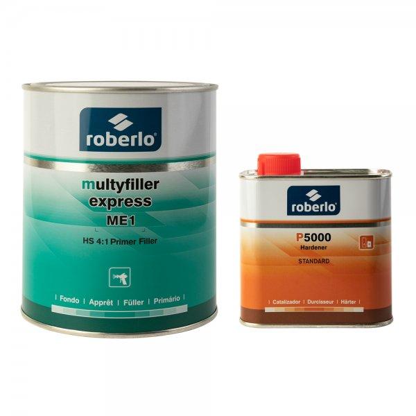 Roberlo MULTYFILLER EXPRESS (1 л) + отвердитель P5000 (0,5 л)
