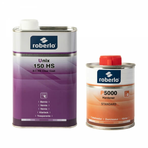 Комплект лака Roberlo UNIX 150 HS (1 л) + отвердитель P5000 (0,5 л)